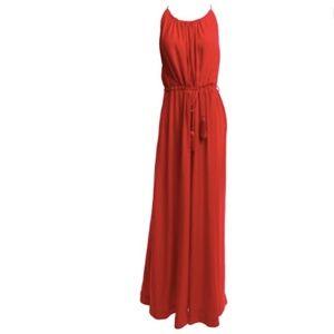 H&M | Red O Neck Floor Length Maxi Dress